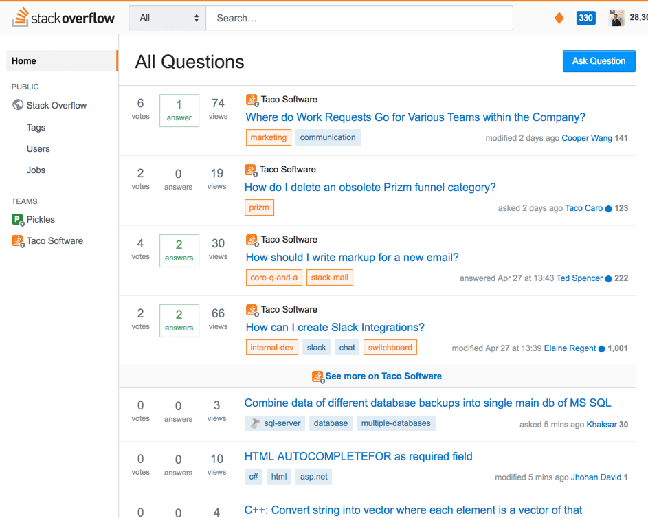 how to delete a stack overflow