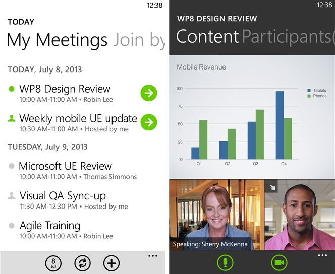 WebEx для Windows Phone