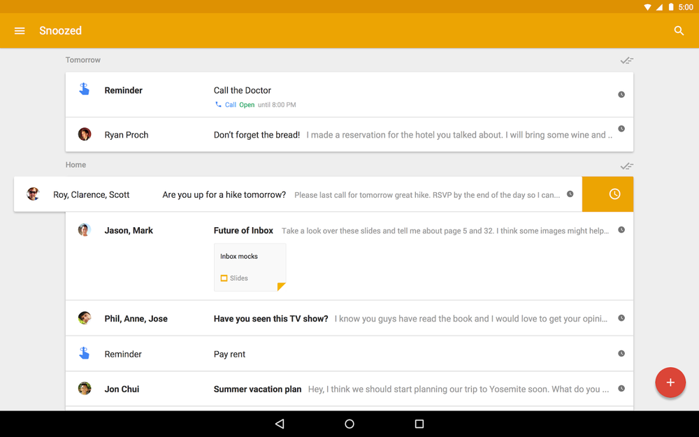 Inbox от Gmail для Android