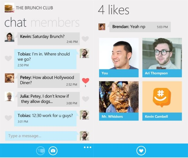GroupMe для Windows Phone