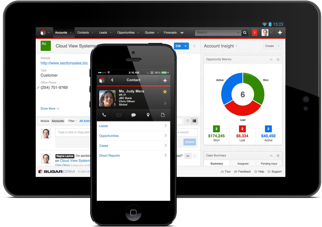 SugarCRM на Android и iOS