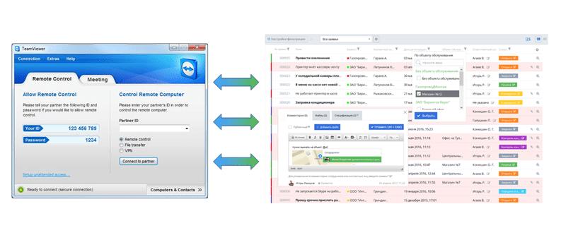 Okdesk теперь интегрирован с Teamviewer
