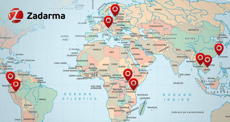 Zadarma расширяет географию виртуальных номеров