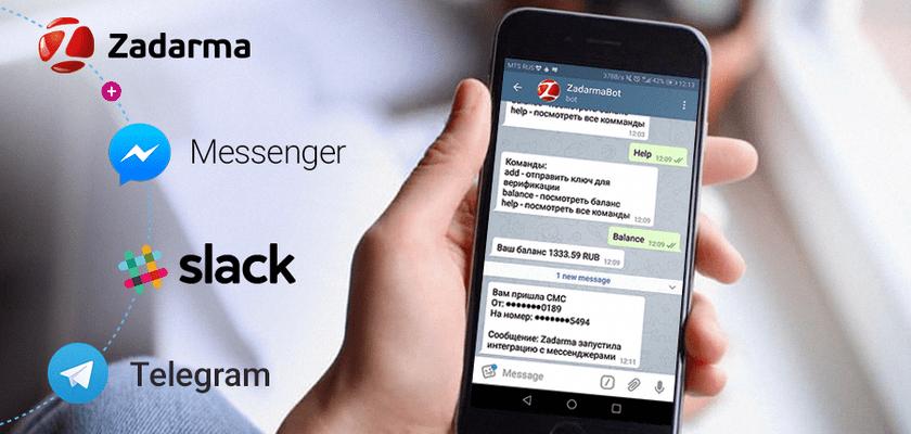 SMS в Telegram или интеграция мессенджеров и IP-телефонии