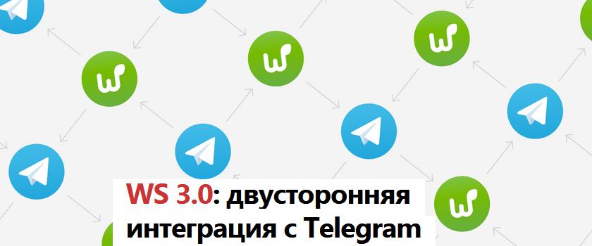 Worksection сотворила двустороннюю интеграцию с Telegram